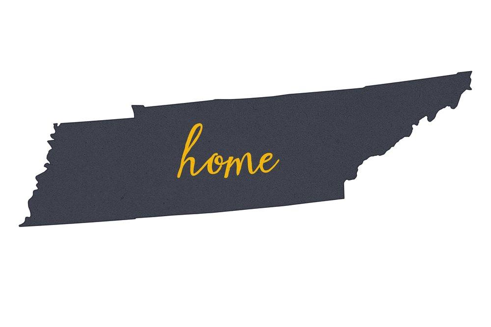 史上一番安い テネシー州 – ホーム状態 – グレーonホワイト 36 x 54 Giclee Print LANT-55435-36x54 B013TXEVKO  9 x 12 Art Print 9 x 12 Art Print, 立田村 db28fad7