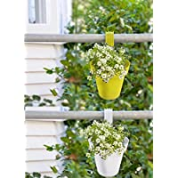 JRM's Garden and Balcony Decorative Hanging Railing and Table Flower Planter Pot (Set of 6)