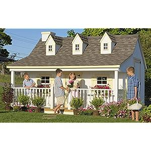 Best Epic Trends 51jKkZ6t3ML._SS300_ Little Cottage Company Pennfield DIY Playhouse Kit, 11' x 12'