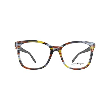 b238239b8a Amazon.com  Eyeglasses FERRAGAMO SF 2760 999 GEOMETRIC BROWN GREY ...