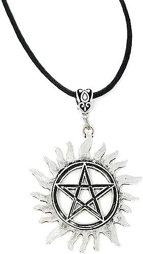 Supernatural Dean Anti-Possession Symbol Pentagram Necklaces Pendant B7W2
