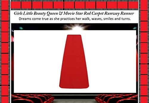 Girls LITTLE BEAUTY QUEEN & MOVIE STAR Practice Red Carpet Runway Runner (18''x7') by Children's Choice