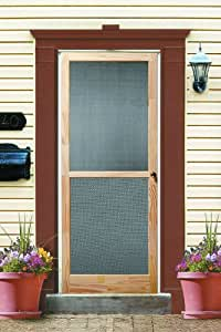 Wood screen door century 36x80 - 30 x 80 exterior door with pet door ...