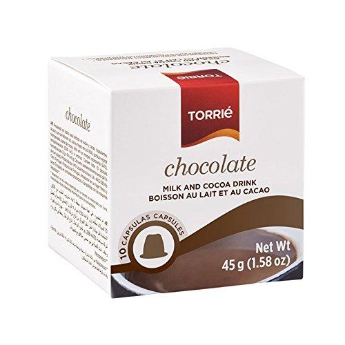 (TORRIE - CHOCOLATE - NESPRESSO ORIGINAL LINE COMPATIBLE - 10 CAPSULES x 4 (Count 40 Capsules))