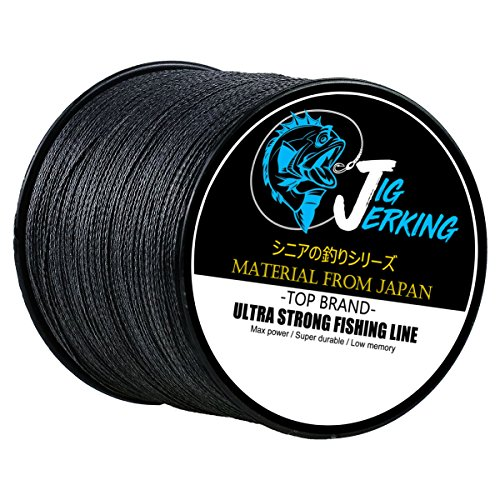 Jig Jerking SUPER POWER 4/8 Strands Braided Fishing Line 100% PE with ZERO Stretch & Abrasion Resistant (500M/547Yds 20Lb 30Lb 50Lb 80Lb 100Lb) - MUST HAVE !
