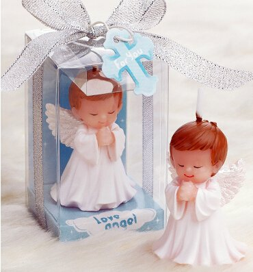 Hand-carved Mini Baby Angel Candle Cake Topper Wedding Decoration Baby Shower Favor(in Gift Box) (boy) from Sweet Homes & Gardens