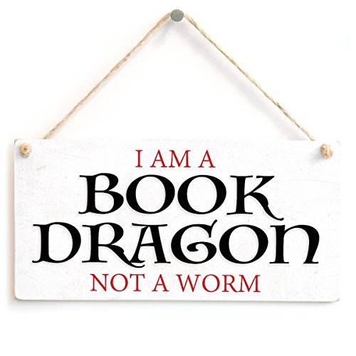 (Meijiafei I Am A Book Dragon Not A Worm - Stylish Sign Gifts for Book Lovers Reading Gifts 10