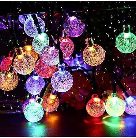 valla de casa /árbol de Navidad Plaza Guirnalda de luces solares para exteriores fiesta luz solar para jard/ín luces LED de hadas