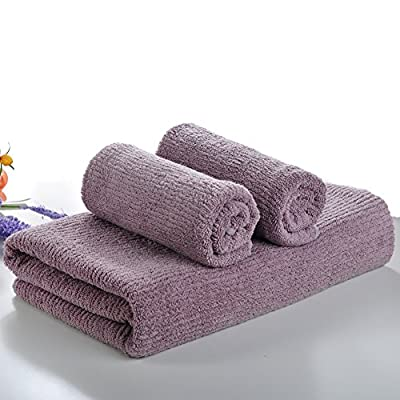 Wibo 3-Piece Bath Towel Set(1 Bath Towel,2 Washcloths) , Fade Resistant ,Highly Absorbent & Softness Bathroom Towel ,Cotton Washcloths - 100% Cotton.Fade-Resistant when washing with other clothes. Lightweight towels,highly absorbent and soft, fine texture and durable.It can be kept for a long time. Bath towel set includes 1 bath towels (27.6 x 55.5 in) and 2 hand towel(13.4 x 29.1 in). - bathroom-linens, bathroom, bath-towels - 51jKlUJvKrL. SS400  -