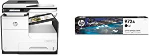 HP PageWide Pro 477dn Color All-in-One Business Printer, 2-Sided Duplex Printing & Print Security (D3Q19A) with Standard Yield Black Ink Cartridge