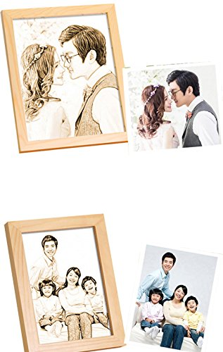 photo Frame Carved on the board Wedding birthday present Customize Christmas gift (Bracket 6) by JEYKAY (Image #1)