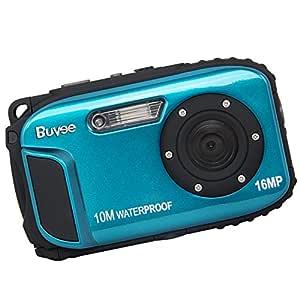 "16MP Underwater Digital Camera with Video 2.7"" LCD Screen 10M Waterproof Freezeproof (Blue)"