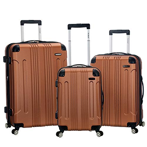 Bargain Luggage Sets - Rockland 3 Pc Sonic Abs Upright Set, Brown