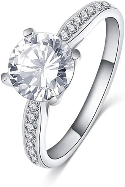 Women 14k Yellow Gold CZ Baguette Eternity Bridal Wedding Engagement Ring Band