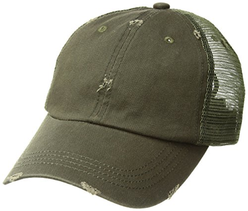 Low Profile Special Cotton Mesh Cap-Dk. Green W40S62B