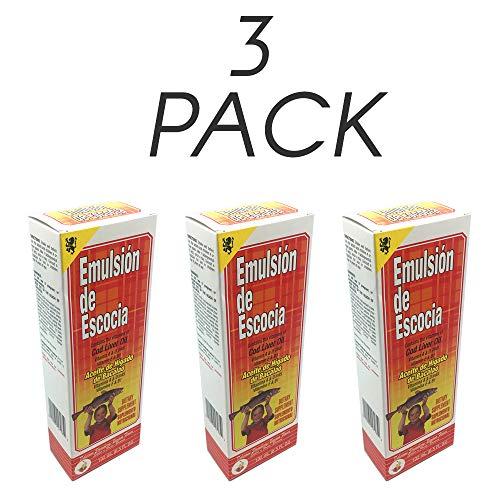 Emulsion de Escocia Vitamins A, D, E and B1 Strawberry and Banana 6.5 Fl Oz / 192 mL. (Pack of 3)