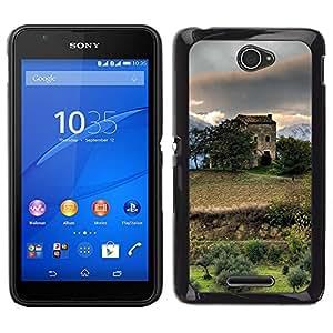 """For Sony Xperia E4 , S-type Naturaleza Hermosa Forrest Verde 183"""" - Arte & diseño plástico duro Fundas Cover Cubre Hard Case Cover"""