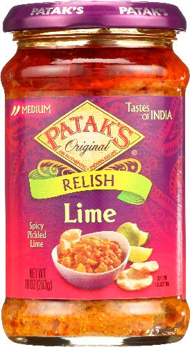 Pataks Hot Pickle, Lime, 10 Ounce ( pack of 6)