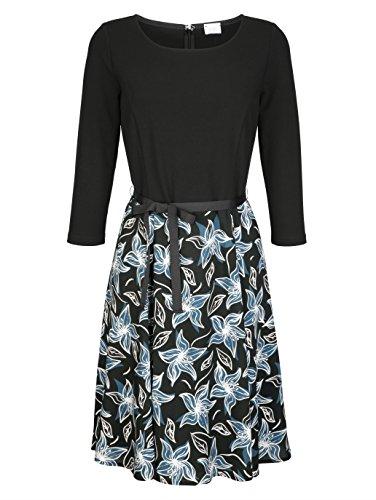Kleid Moda Alba by Geteilter Damen Optik Blau in 2 Fließend REd6dwq