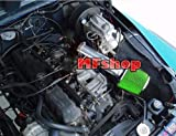 1991 1992 1994 1995 Jeep Wrangler 2.5L 4.0L Air Intake Filter Kit System (Long Version) (Black Accessories with Green Filter)