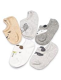 Baby 5-Pairs Girls Boys Thin Mesh Cotton Socks Toddler Boat Socks Low Cut Socks For Summer