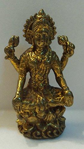 (Hinduism Amulets Maa Laxmi Lakshmi Hindu Deity Goddess Rich Wealth & Lucky India Thai Mini Amulet)