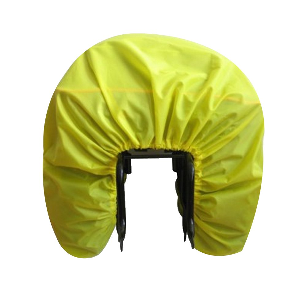 Bicycle Rear Seat Carrier Bag - 100%Waterproof Rainproof Cover for Commuter Bags ,Panniers Trunk Bag, Backpack Bag, Pack Pannier and Luggage Bag, Ultralight and foldable Bicycle Rain Cover(Yellow)