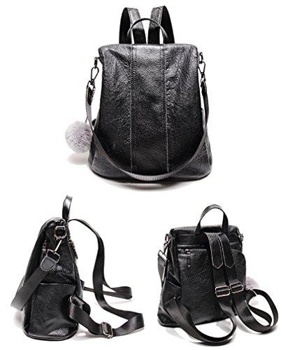 Zainetto Black 37 Borsa Nuclerl Backpack nero A Donna PafxTSq