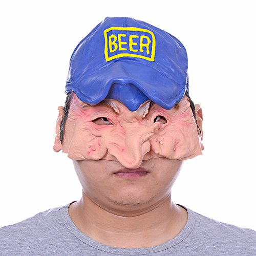 [2015 - Funny Design Hollaween Party Big Nose Small Eyes Peaked Cap Half Face Latex Holloween Costume Party Mask With] (Holloween Costumes Designs)
