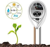 BIFY Bodentester,Boden Feuchtigkeit Meter,3 in 1 Bodentester für Feuchtigkeit/Sonnenlicht/pH-Tester für Pflanzenerde,...