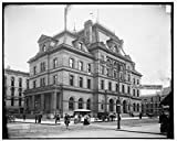 Vintography 40 x 30 Ready to Hang Canvas Wrap Post Office Toledo Ohio 1905 Detriot Publishing 34a