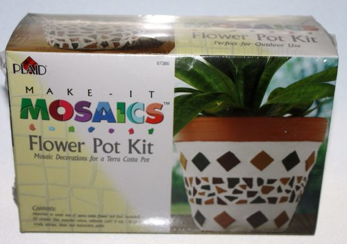 Plaid Make It Mosaics Flower Pot Kit
