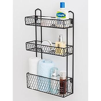 Amazon.com: 3 Tier Rustic Chicken Wire Wall Hanging Bathroom ...