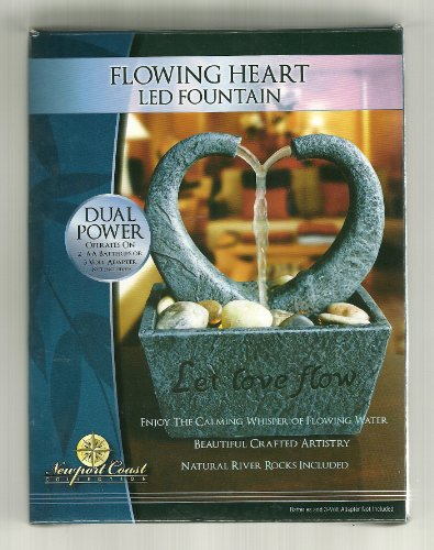Flowing Heart LED Fountain Indoor Water Feature