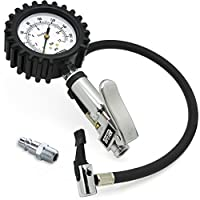 TireTek TXL-Pro Heavy Duty Tire Pressure Inflator Gauge With Lock On Chuck