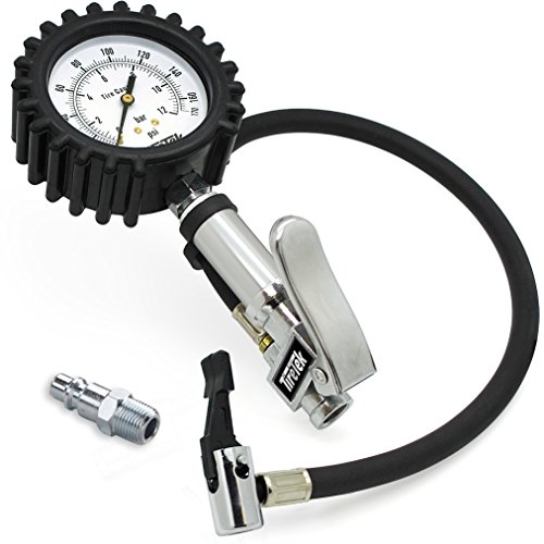 Heavy Equipment Gauges : Tiretek txl pro heavy duty tire pressure inflator gauge
