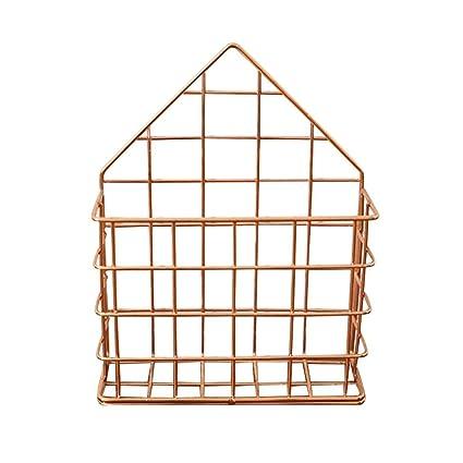 Estante de almacenamiento de metal, panel de rejilla de pared de metal, para colgar