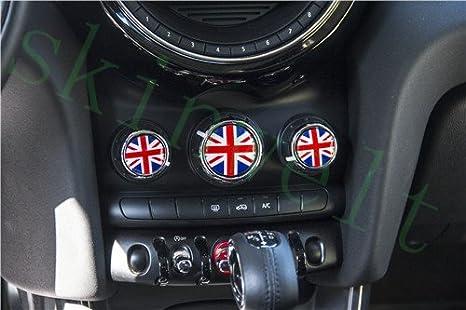 LVBAO per Mini Cooper F55 Hardtop F56 Hatchback F57 per condizionatore del Volume Copertura Adesiva per Pulsante del cruscotto