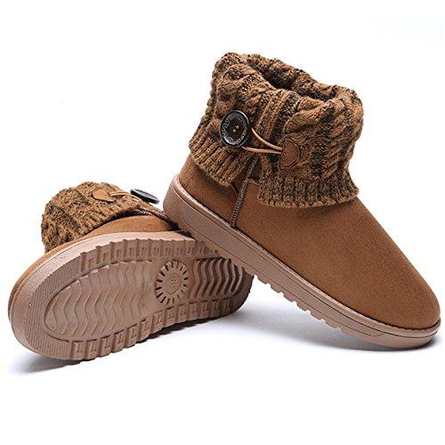 Lalang Neige Chaudes Cheville Bottes Boots Brun Chaussures Fourrées De Femme Hiver rtXwqrC
