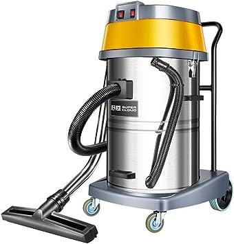 T-C aspiradora inalámbrico de vacío, Hogar coche for aspiradoras, el aspirador mojado y seco con toma de fuerza de 2000 vatios, amarillo, Potente 18.5Kpa succión, 70Litre Colección de capacidad, práct: Amazon.es: Hogar