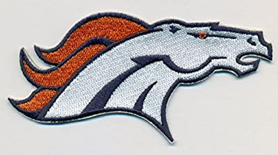 Denver Broncos Large Logo Football Embroidered Iron On Patches Hat Jersey 4 1/4 x 2 1/4