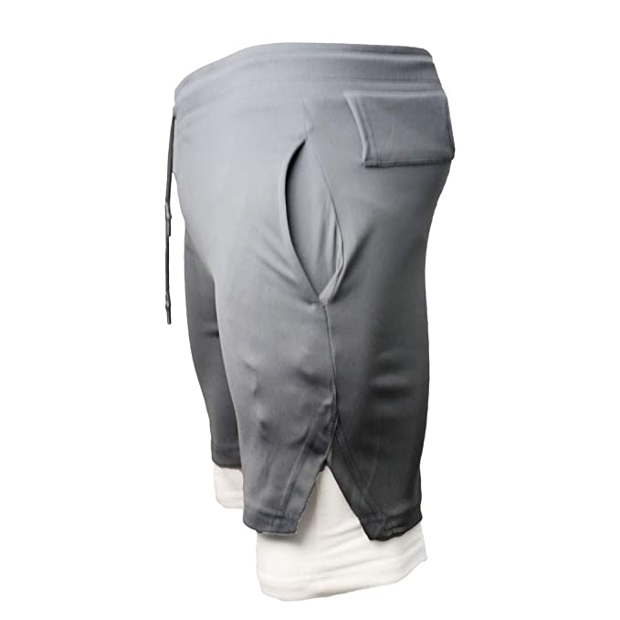 YEBIRAL Pantalones Cortos Hombre, Verano con Cordón ...