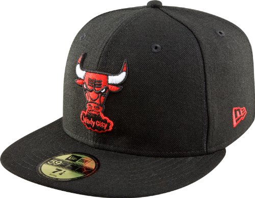 NBA Chicago Bulls Hardwood Classics Basic 59Fifty Cap, Black, 7 3/8