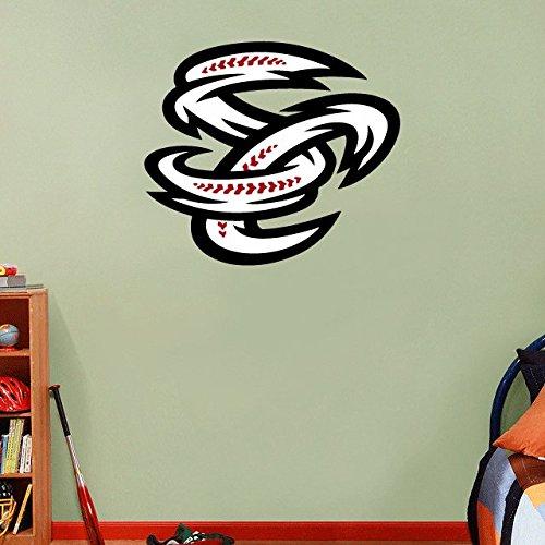 qualityprint Omaha Storm Chasers MiLB Minor Baseball Sport Home Decor Vinyl Wall Sticker 25'' X 22'' -