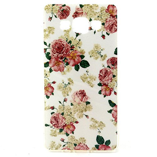 Galaxy A5 Case, Style Hybrid Fancy Colorful Pattern Hard Soft Silicone Back Case Cover Fit for Samsung Galaxy A5 (Rose)