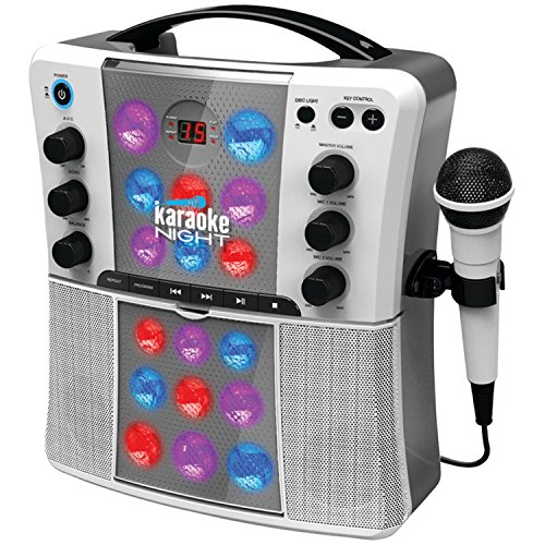 Karaoke Night KN200 CD+G Karaoke System With LED Light ()