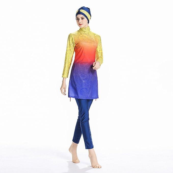 65a6747f401 Mr Lin123 Womens' UPF 50+ Modest Muslim Swimwear for Women Girls Full  Coverage Islamic Swimsuits Hijab Bukini: Amazon.co.uk: Sports & Outdoors