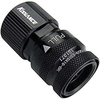 Koolance QD3-FS10X16-BK QD3 Female Quick Disconnect No-Spill Coupling, Compression for 10mm x 16mm (3/8in x 5/8in) *Black*