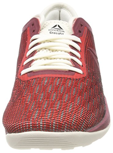 Reebok Crossfit Nano 8.0, Chaussures de Fitness Femme Multicolore (Primal Red/Urban Maroon/Chalk/Black Cm9172)