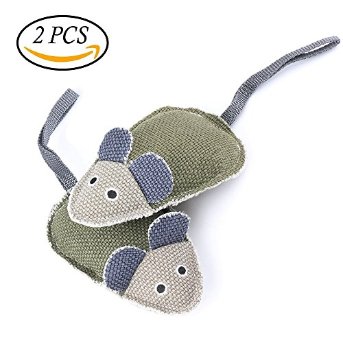 ONSON Dog & Cat Toys - Interactive and Chewing Cotton Mice Toys - Durable Pets Squeaky Mouse Chew Textured Toy for Small Medium Large Dogs and Cats - Nontoxic Toy and Clean Teeth